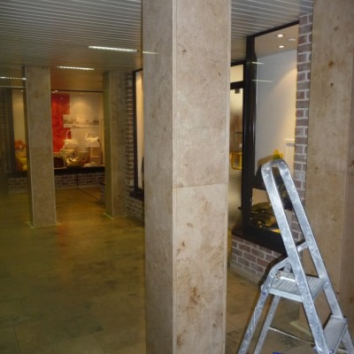 aanbrenging anti-graffiti coating project winkelcentrum Houthalen